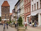 Medieval Czluchow Gate Seen from Pedestrianized 31 Stycznia Street