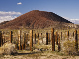 Abandoned Corral in Cinder Cone Lava Beds Area from Aikens Mine Road in Mojave National Preserve