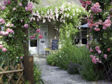 Cafe Les Nymphias in Giverny  Opposite the Entrance to Monet's Gardens