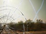 View Through Broken Window of Bus