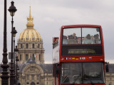 Open Top Tour Bus on Pont Alexandre