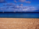 Reduit Beach and Yachts on Rodney Bay