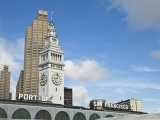 Port of San Francisco Sign and Ferry Building Clock Tower