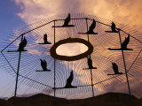 Geese in Flight Sculpture on the Enchanted Highway
