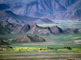 Scenery of Phenpo Valley from Nalendra Monastery Near Lhundrub