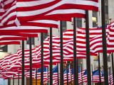 Flags in Rockefeller Square