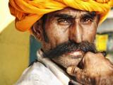 Portrait of Moustachioed Man