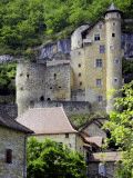 Castle of Laroque-Toirac on Steep Cliff Face
