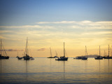 Boats in Airlie Bay at Dawn