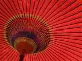 Traditional Red Japanese Paper Umbrella Papier Photo par Rachel Lewis