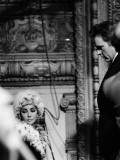 Elizabeth Taylor and Richard Burton at Tv Studios Rehearsing a Programme for St Davids Day  1963