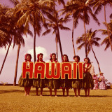 Hula Girls Dancing in Front of Palm Trees  Hawaii