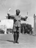 Sikh Traffic Policeman Standing in Middle of Street  Directing Traffic  Singapore