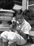 Boy and Terrier