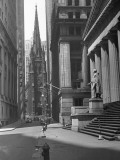 View Up Wall St of Trinity Church
