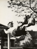 Small Boy on Swing Outdoors