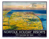 Norfolk Holiday Resorts  M&GN/LNER/LMS  c1936