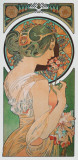 Spring: The Primula , c.1899 Reproduction d'art par Alphonse Mucha