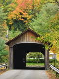 Built in 1837  Coombs Covered Bridge  Ashuelot River in Winchester  New Hampshire  USA