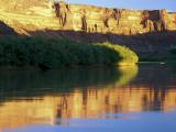 Sunrise Along Green River at Mineral Bottom  Utah  USA
