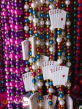 Mardi Gras Beads  French Quarter  New Orleans  Louisiana  USA