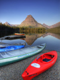 Two Medicine Lake and Sinopah Mountain  Glacier National Park  Montana  USA