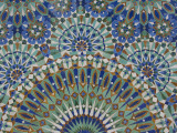 Close-Up of Mosaics in Hassan Ii Mosque  Casablanca  Morocco