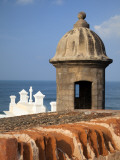 Lookout Tower at Fort San Cristobal  Old San Juan  Puerto Rico  Caribbean