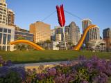 Cupids Arrow Sculpture Along the Embarcadero in Downtown San Francisco  California  USA