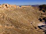 Historical 2Nd Century Roman Theater Ruins in Dougga  Tunisia  Northern Africa