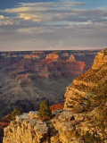 Grand Canyon From the South Rim at Sunset  Grand Canyon National Park  Arizona  USA