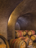 Barrels in Cellar at Long Meadow Ranch Winery  Ruthford  Napa Valley  California  USA
