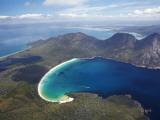Wineglass Bay and the Hazards  Freycinet National Park  Tasmania  Australia