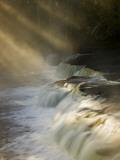 Sunbeams on Tahquamenon Falls  Upper Peninsula  Michigan  USA
