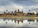 Panoramic View of Temple Ruins  Angkor Wat  Cambodia