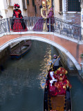 People Dressed in Costumes For the Annual Carnival Festival  Venice  Italy