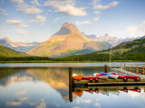 Swiftcurrent Lake  Many Glacier  Glacier National Park  Montana  USA