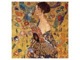 Femme à l'éventail Giclée premium par Gustav Klimt