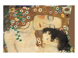 Mère à l'enfant Giclée premium par Gustav Klimt