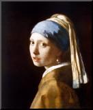 La jeune fille à la perle, vers1665 Reproduction montée par Johannes Vermeer
