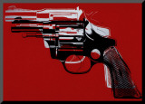 Pistolets, vers 1981-82 Reproduction montée par Andy Warhol