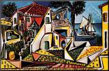 Paysage méditerranéen Reproduction montée par Pablo Picasso