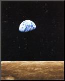 Lever de Terre depuis la Lune Reproduction montée