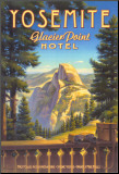 Yosemite, Glacier Point Hotel Reproduction montée par Kerne Erickson