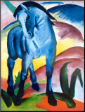Cheval bleu I Reproduction montée par Franz Marc