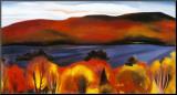 Lac George, automne,1927 Reproduction montée par Georgia O'Keeffe