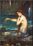 La Sirène, 1900 Reproduction montée par John William Waterhouse
