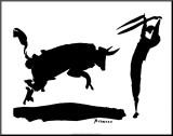 La corrida III Reproduction montée par Pablo Picasso