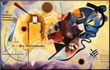 Jaune, rouge et bleu, vers 1925 Reproduction montée par Wassily Kandinsky