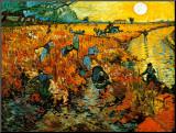 Le vignoble rouge, vers 1888 Reproduction montée par Vincent Van Gogh